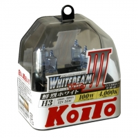 Галогенные лампы Koito Whitebeam H3 4000K 12V 55W (100W) - 2 шт.
