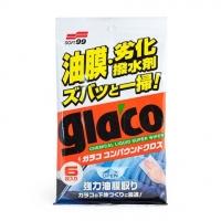 Очищающие салфетки для стекол Glaco Glass Compound Sheet Soft99, 6 шт.