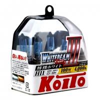Галогенные лампы Koito Whitebeam H11 4000K 12V 55W (100W) - 2 шт.