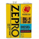 Моторное масло Idemitsu Zepro Diesel 5W30 DL-1 ACEA C2-08, 4 литра