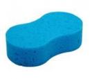 Губка для мытья автомобиля Clingo 21х12,5x5,8см, полиэфир голубой