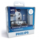 Галогенные лампы Philips Crystal Vision H11 4300K 12V 55W + w5w 12V 5W - 2шт.