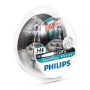 Галогенные лампы Philips X-treme Vision H4 3700K 12V 55W - 2шт.