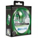 Галогенные лампы Philips Color Vision Green H4 3350K 12V 55W - 2шт.
