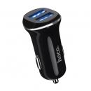 Разветвитель прикуривателя на 2 гнезда USB Black