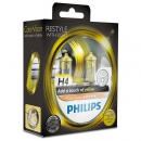 Галогенные лампы Philips Color Vision Yellow H4 3350K 12V 55W - 2шт.