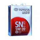 Моторное масло Toyota 5W30 SN/CF SAE, 4 литра